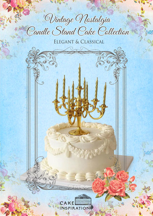 Vintage Nostalgia Candle Stand Cake Collection