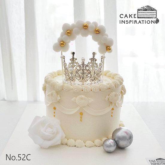 Tiara Princess Bunting Topper Cake ( no.52C ) - 6inch