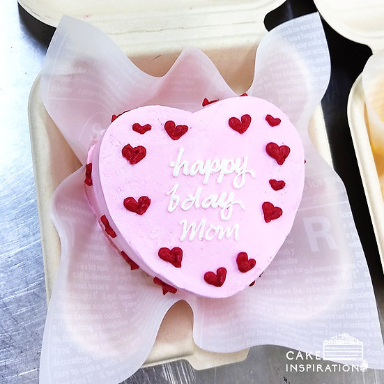 Cute Pink Heart Bento Cake (H04)