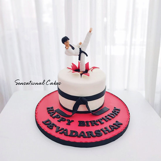 Taekwondo Martial Arts, Man 3D Customized Cake