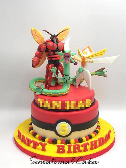 Monster Assemble Children 3D Figurine Customized Cake