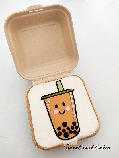 Boba Milk Tea Bento 2D Customized Mini Cake