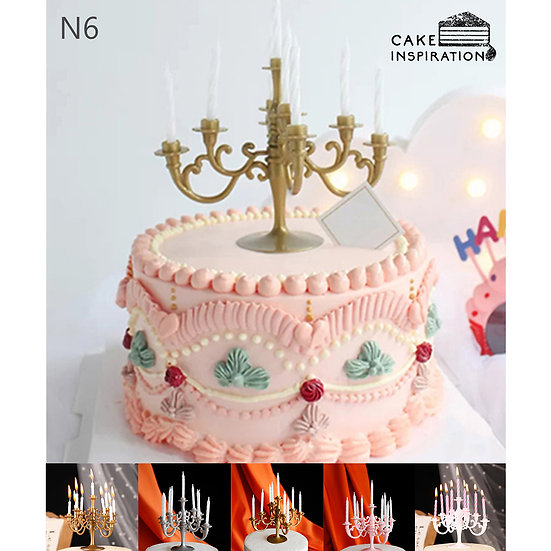 (N6) Classic Pink Victorian Style Cake - 6inch