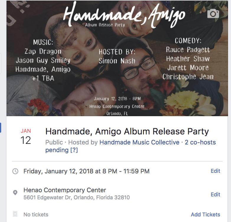 handmade amigo show flier