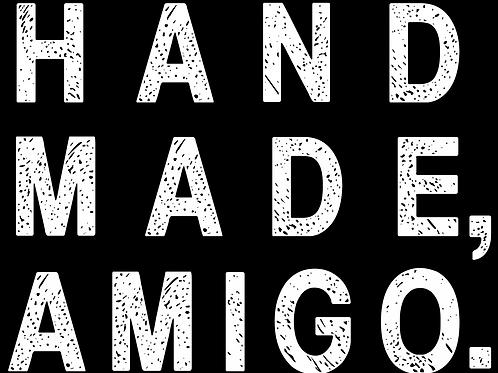 Handmade, Amigo Block Text Sticker
