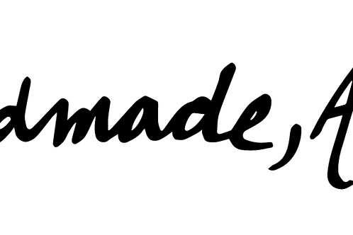 Handmade, Amigo Cursive Sticker