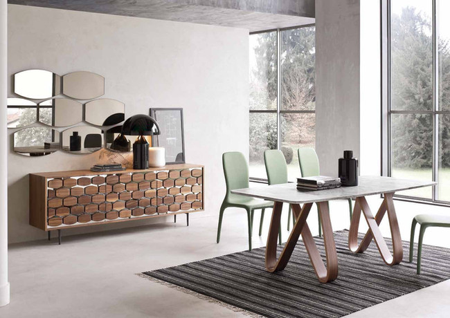 Tonin Casa_Butterfly Table_Honey Console