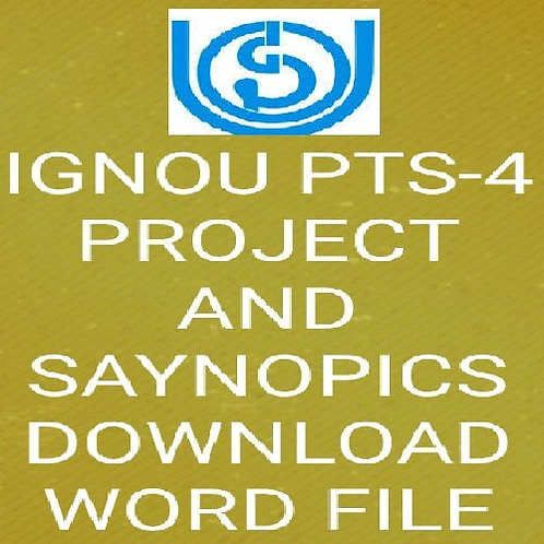 PTS-4 IGNOU PROJECT & SAYNOPICS -STUDY OF MONUMENTS OF MUGHAL PERIOD IN DELHI