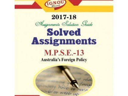 MPSE-13 ENGLISH IGNOU SOLVED ASSIGNMENTS 2017-18