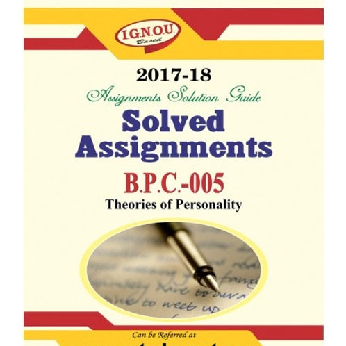 BPC-05 IGNOU SOLVED ASSIGNMENTS 2017-18