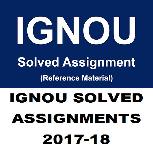 MPA-17 ENGLISH IGNOU SOLVED ASSIGNMENTS 2017-18