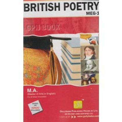MEG-1 British Poetry IGNOU GPH HELP BOOK