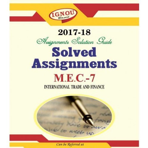 MEC-07 ENGLISH IGNOU SOLVED ASSIGNMENTS 2017-18