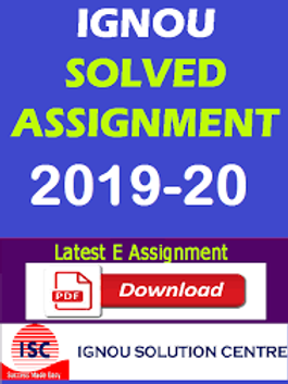 MHD-20  IGNOU SOLVED ASSIGNMENTS 2019-20