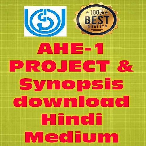 AHE-01 PROJECT & SYNOPSIS (HINDI) CODE-01