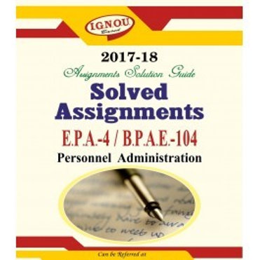 BPAE-104 ENGLISH IGNOU SOLVED ASSIGNMENTS 2017-18