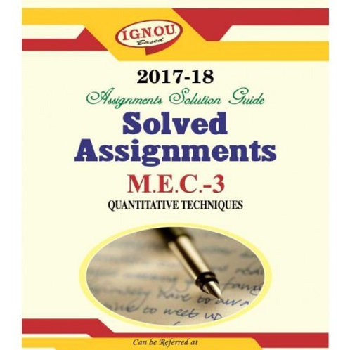MEC-03 ENGLISH IGNOU SOLVED ASSIGNMENTS 2017-18