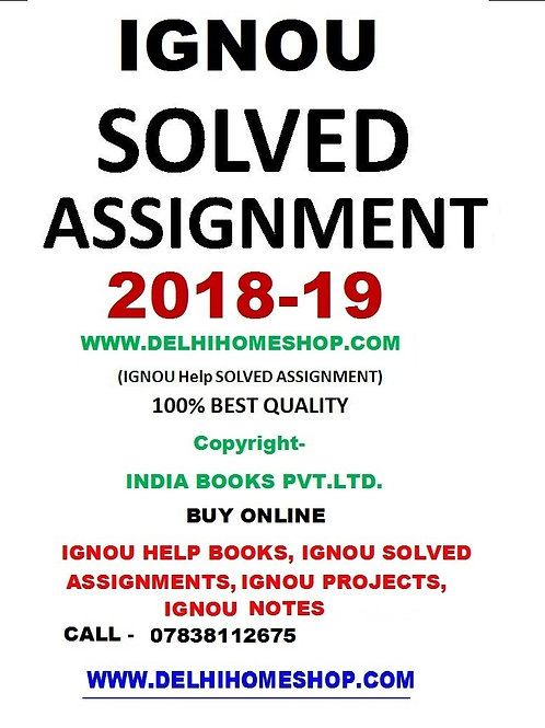 ECO-01 ENGLISH IGNOU SOLVED ASSIGNMENT 2018-19
