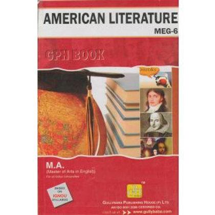 MEG-6 American Literature IGNOU GPH HELP BOOK