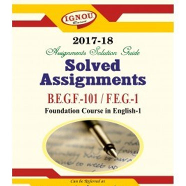 FEG-01 ENGLISH IGNOU SOLVED ASSIGNMENTS 2017-18