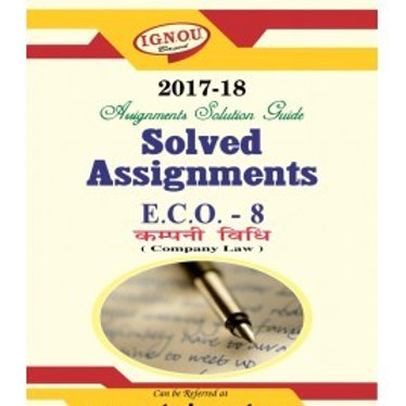 ECO-08 ENGLISH IGNOU SOLVED ASSIGNMENTS 2017-18