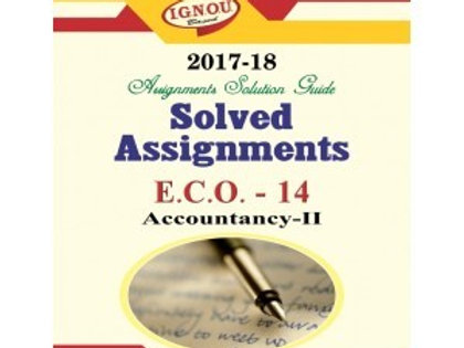 ECO-14 ENGLISH IGNOU SOLVED ASSIGNMENTS 2017-18