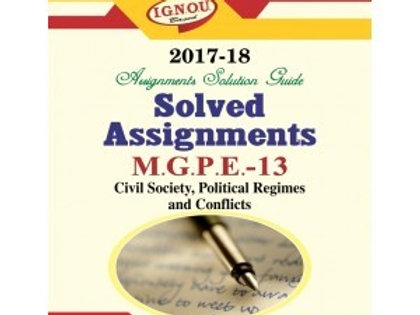 MGPE-13 ENGLISH IGNOU SOLVED ASSIGNMENTS 2017-18
