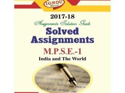 MPSE-1 ENGLISH IGNOU SOLVED ASSIGNMENTS 2017-18
