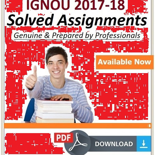 BSWE-6 IGNOU SOLVED ASSIGNMENTS 2017-18