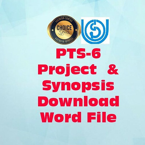 PTS-6 IGNOU PROJECT & SYNOPSIS -Railway Tourism in India