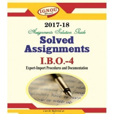 IBO-04 ENGLISH IGNOU SOLVED ASSIGNMENTS 2017-18