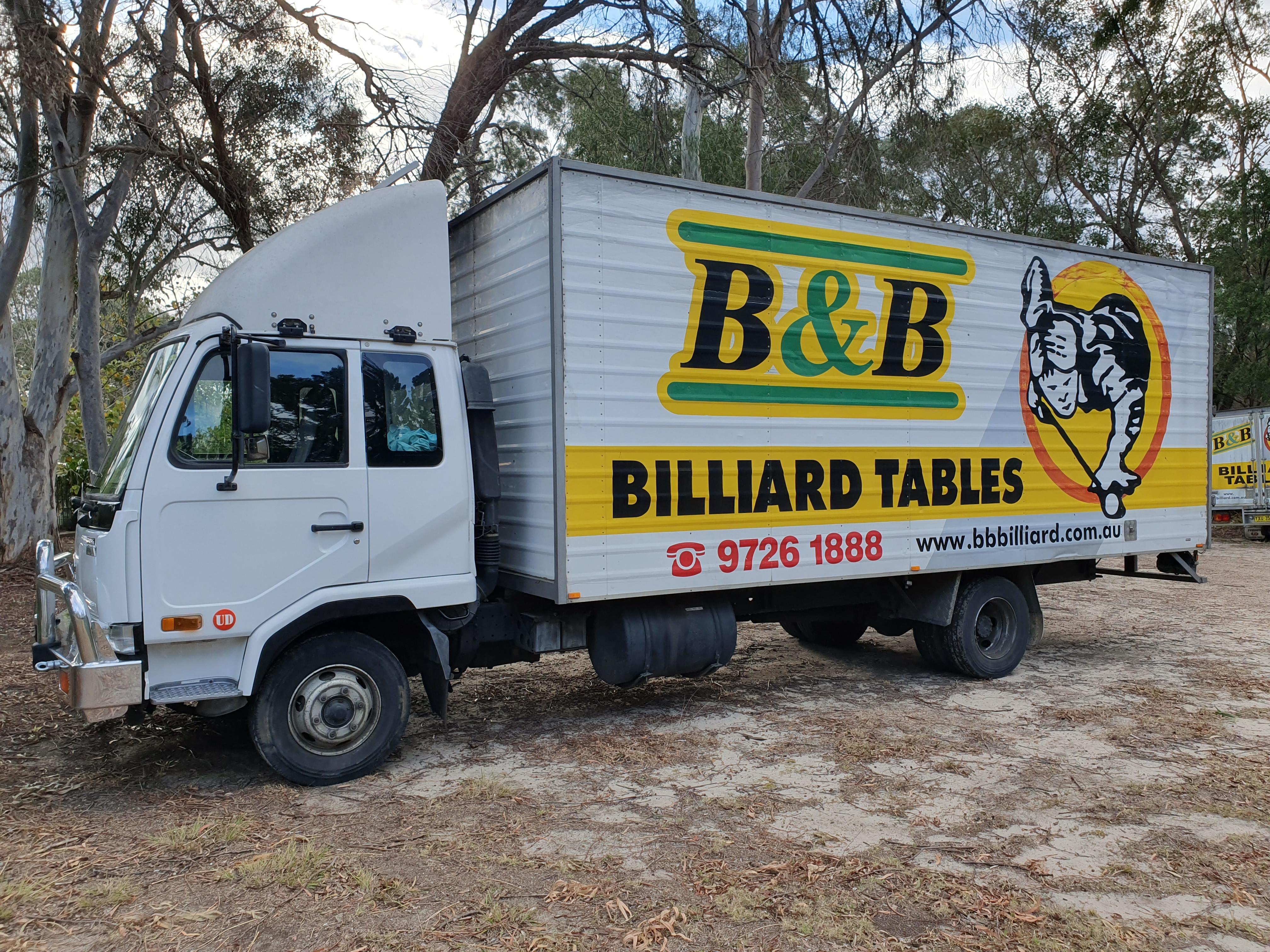 B&B Billiard Tables Truck