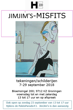 JIMJIM'S MISFITS - een spannende expo van Chay Sauvage bij Galerie H200 7 t/m 29 september 2018