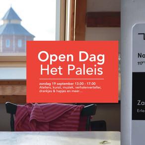 Open Dag Cultuurpand Het Paleis zondag 19 september 13.00 uur