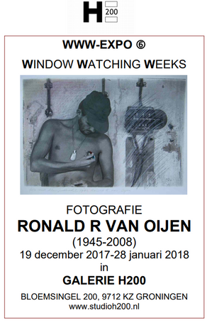 Expositie GalerieH200 - Window Watching Weeks door Ronald R. van Oijen