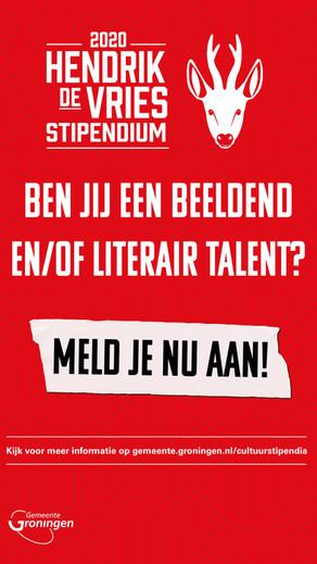 Werving kandidaten Hendrik de Vriesstipendium 2020