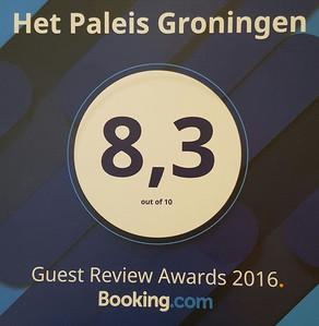 Het Paleis krijgt 8,3 bij Booking.com