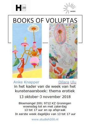 Expositie BOOKS OF VOLUPTAS   Galerie H200 in Het Paleis t/m 4 nov