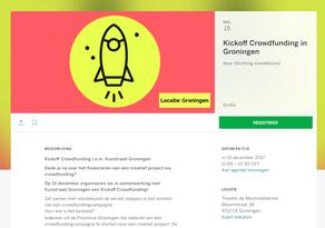 Kickoff Crowdfunding i.s.m. Kunstraad Groningen