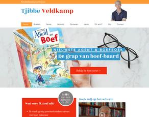 Schrijver Tjibbe Veldkamp heeft een nieuwe website