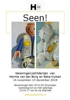 Expositie SEEN! in Galerij H200 Groningen - 16 nov t/m 15 dec 2018