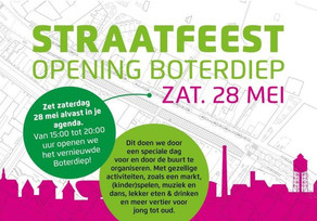 Straatfeest Boterdiep zaterdag 28 mei 15:00 uur
