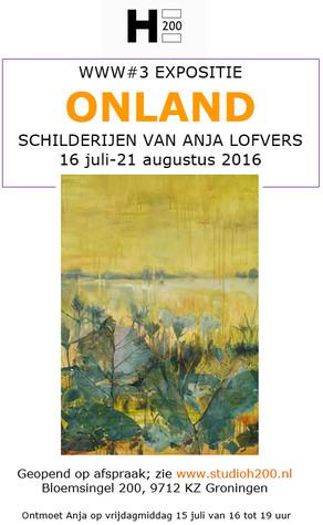 Opening expositie Anja Lofvers in Studio H200 in Het Paleis vrijdag 15 juli
