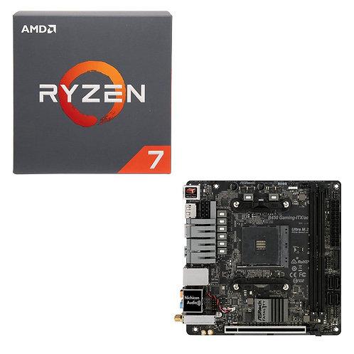 AMD Ryzen 7 2700 with Cooler, ASUS Crosshair VII Hero WF X470 CPU/Motherboard