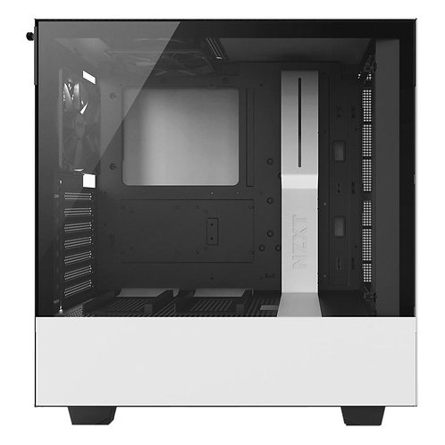 NZXT H500 Tempered Glass ATX Mid-Tower Computer Case - White/Black