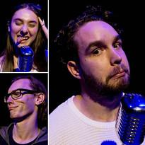 Performers Susannah Grey, Chris Buckle, & Jacob Wehr-Murphy