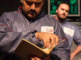 Jason Dohle as Dr. Ettinger and Dean Lovatt as James