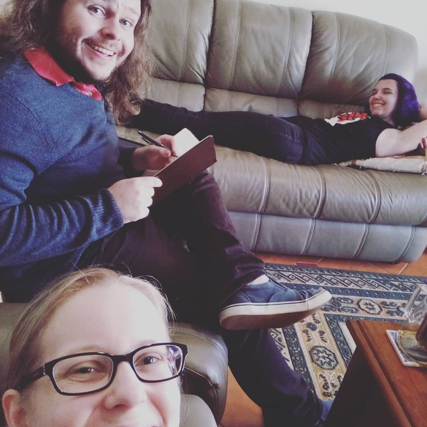 Working hard or hardly working? The Thought Jar Team is currently crazy busy with prep work for @lantis - but that doesn't mean we can't be comfy while we work!