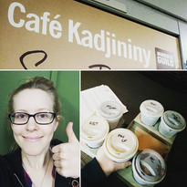Production manager Ellin goes on a coffee run