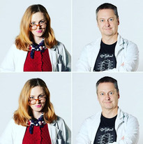 Tegan Mulvany as Dr. Mary Pote and Murray Jackson as Professor Jules Quine